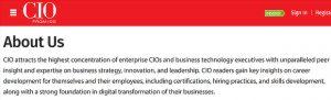 CIO.com page example