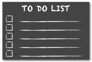 Create Your Own Business Plan, To Do List