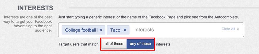find interests on facebook targeted ads