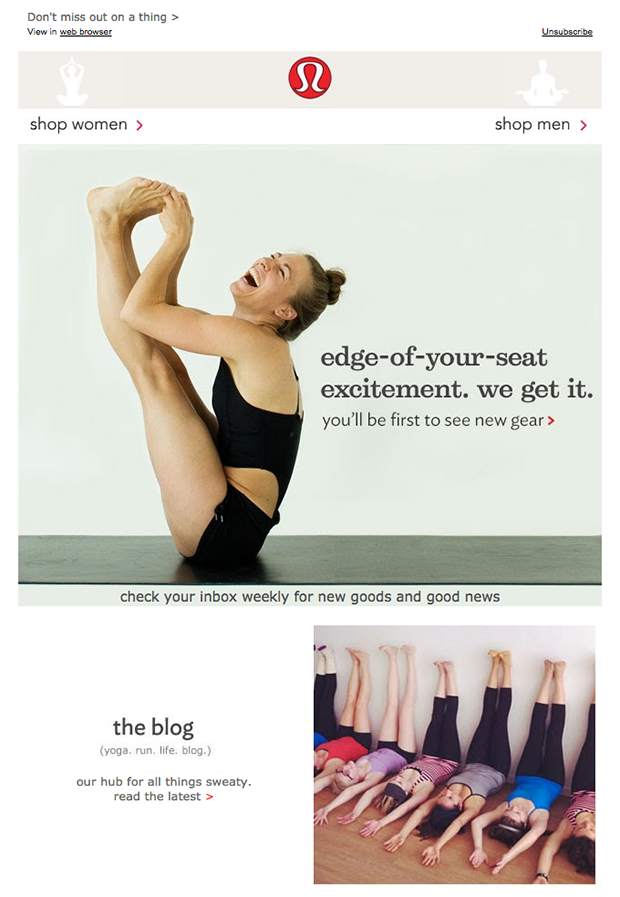 Lululemon-welcome-email