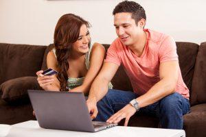 couple buying something online eCommerce