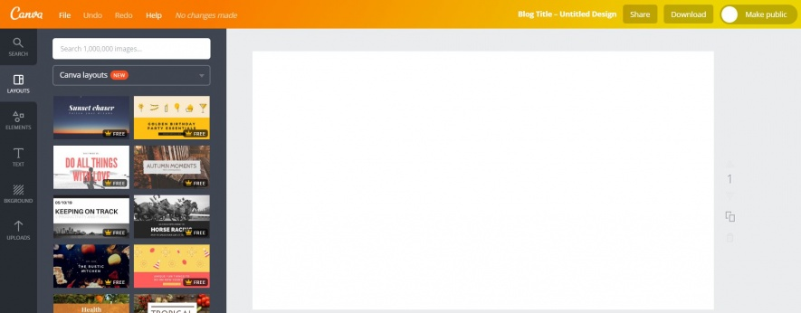 Canva, free image editor