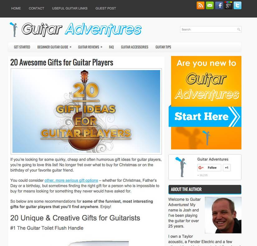 Guitar player gift guide