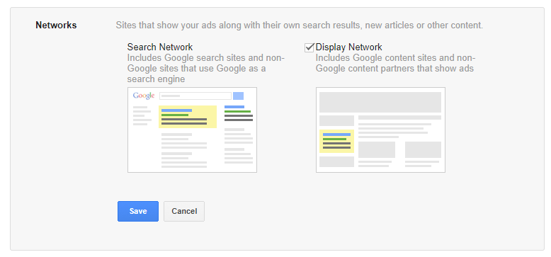 How To Use Google AdWords: Select A Network