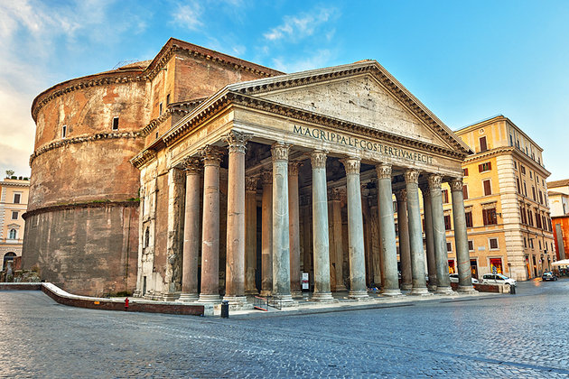 italy rome pantheon exterior view