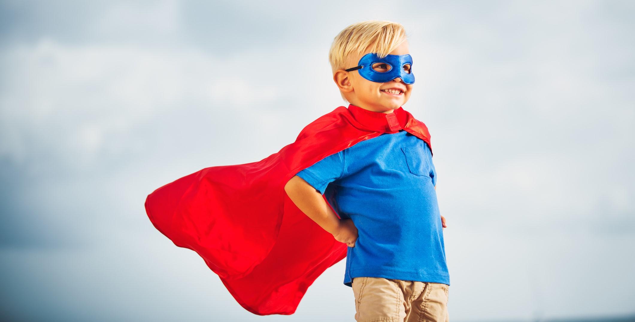 super hero kid cape mask dreamstime_m_54422654 - Job Crusher